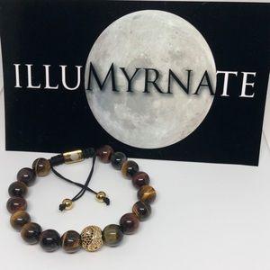 Natural Yinyang Tigers Eye Bracelet